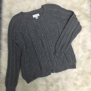 CJ Banks gray cardigan size X (14W)